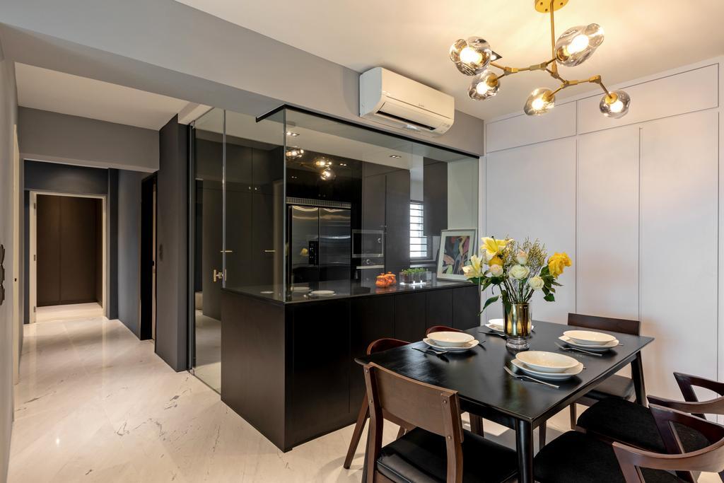 Contemporary, HDB, Dining Room, Strathmore Avenue, Interior Designer, Bowerman