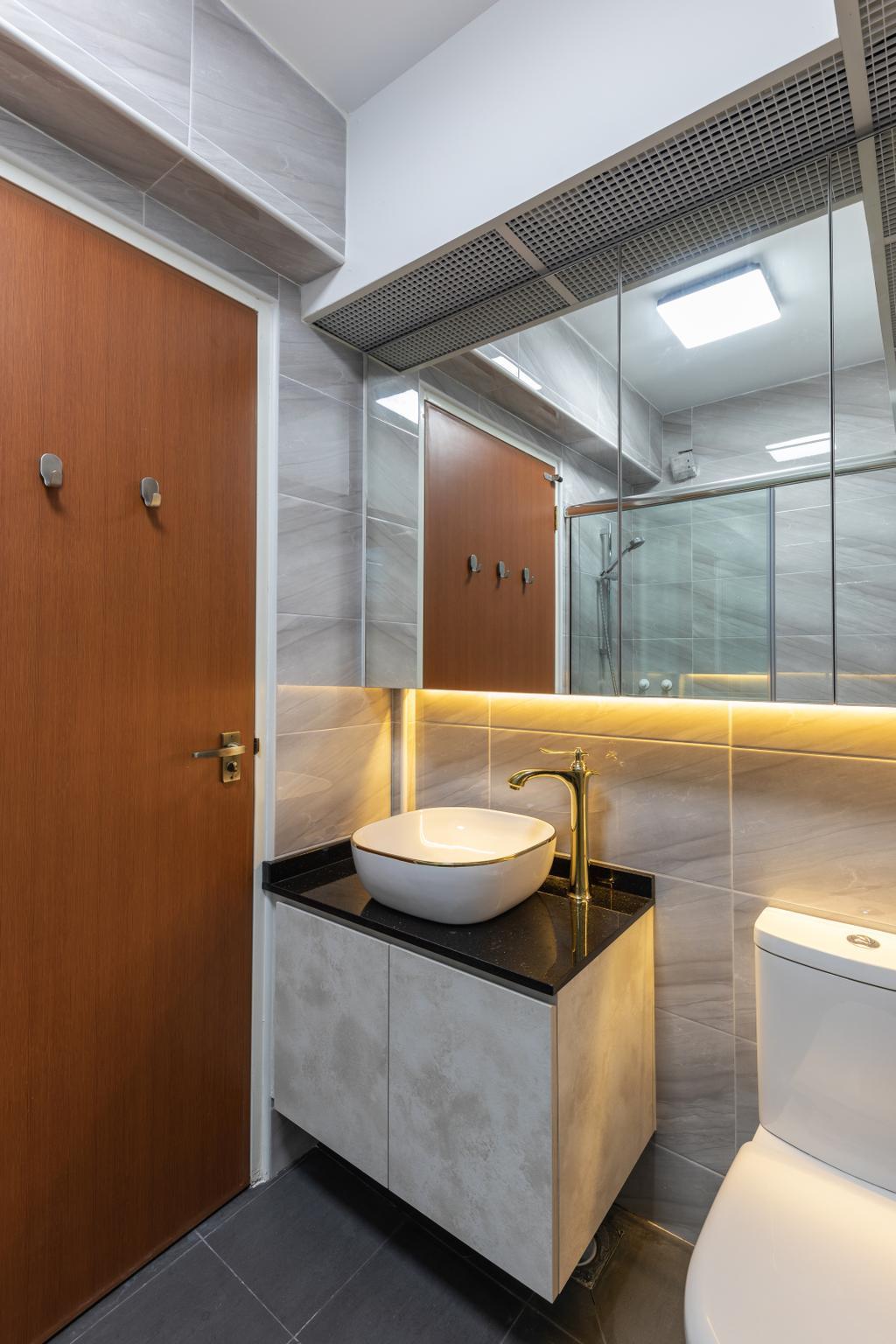 Contemporary, HDB, Bathroom, Woodlands Rise, Interior Designer, Azcendant