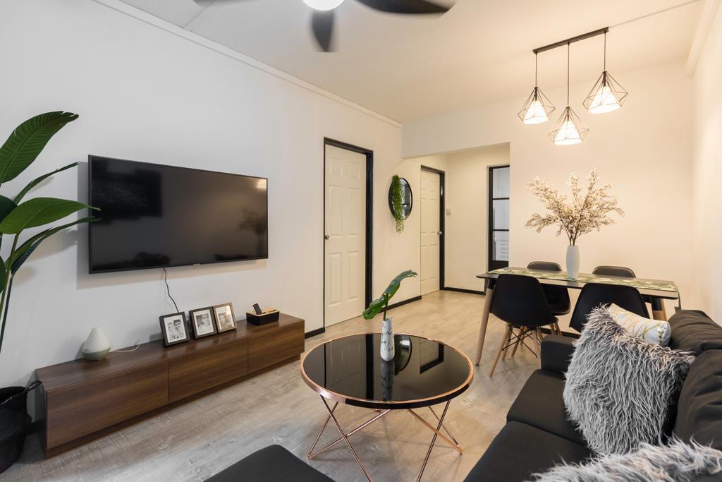 Modern, HDB, Living Room, Woodlands Street 31, Interior Designer, VNA Design