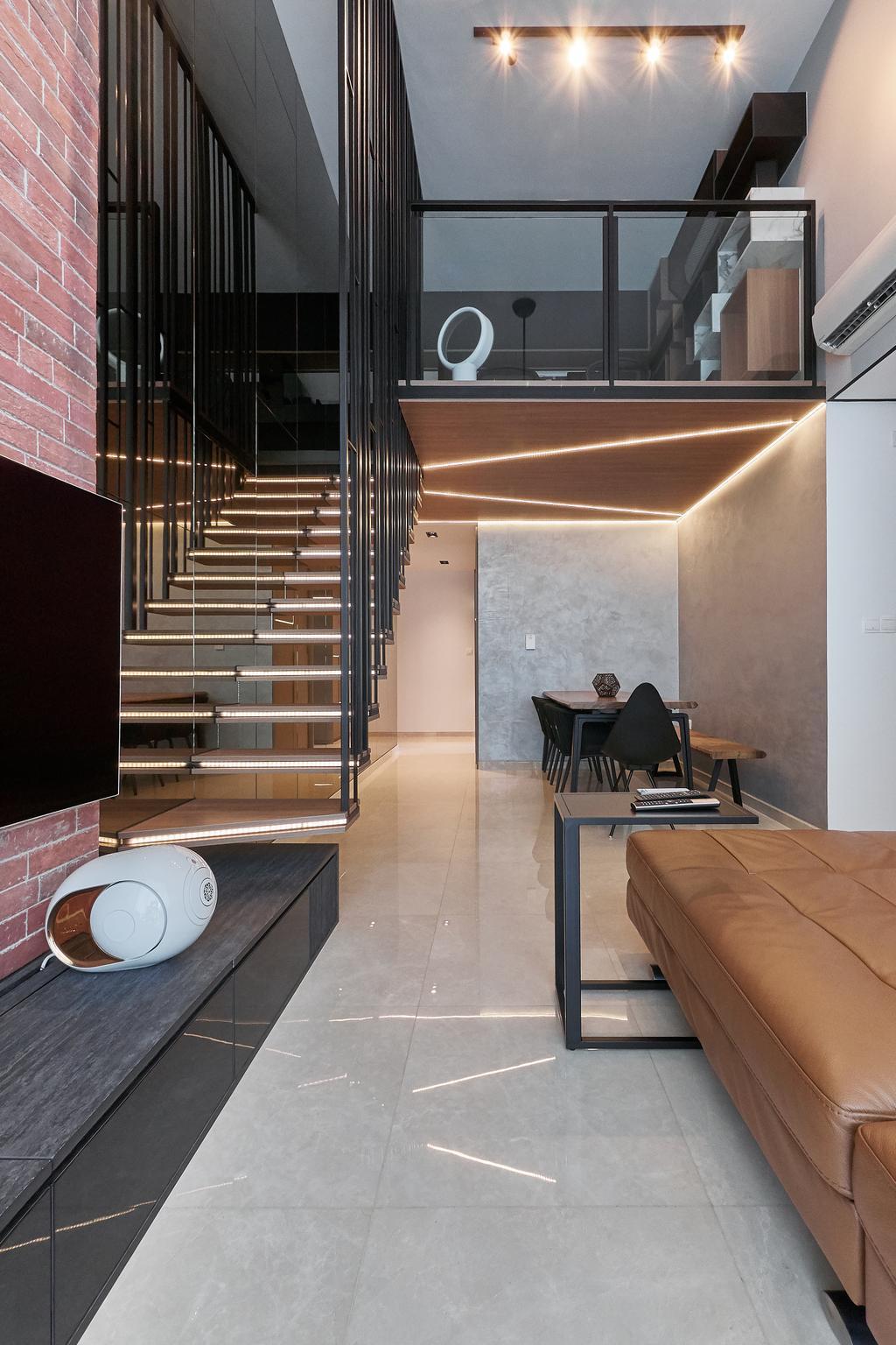 Contemporary, Condo, Living Room, The Glades, Interior Designer, Space Atelier