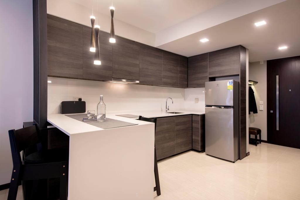 Contemporary, Condo, Kitchen, Sims Urban Oasis, Interior Designer, Starry Homestead