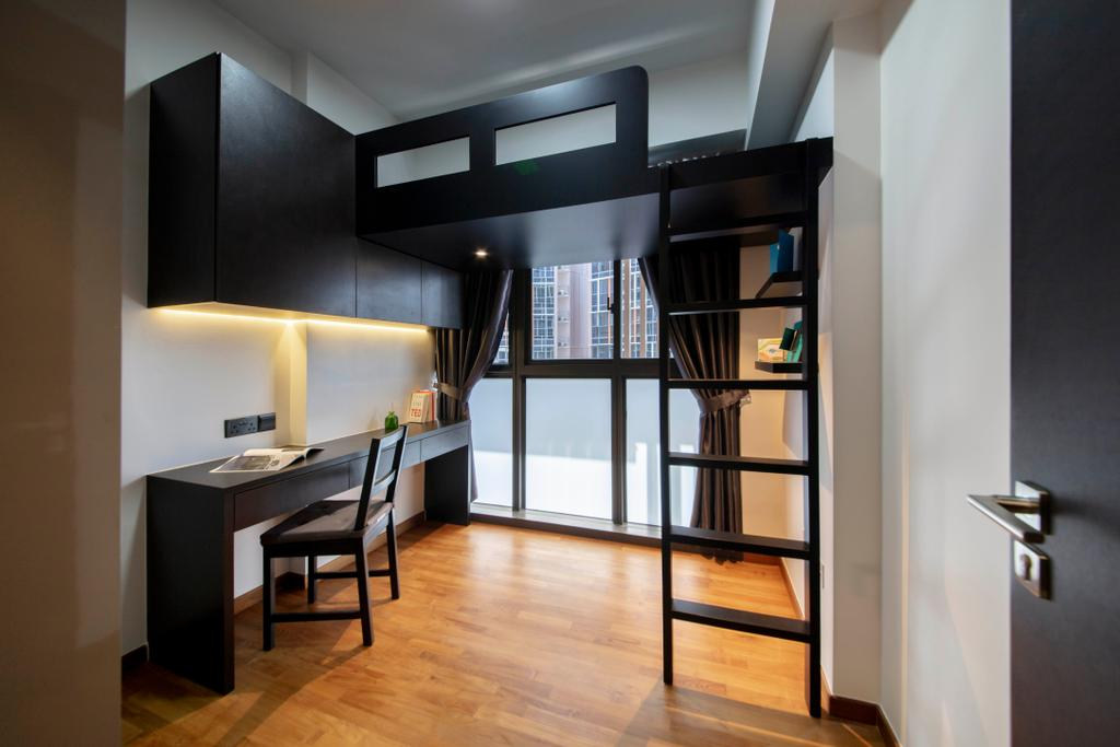 Contemporary, Condo, Study, Sims Urban Oasis, Interior Designer, Starry Homestead