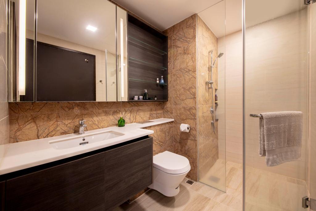 Contemporary, Condo, Bathroom, Sims Urban Oasis, Interior Designer, Starry Homestead