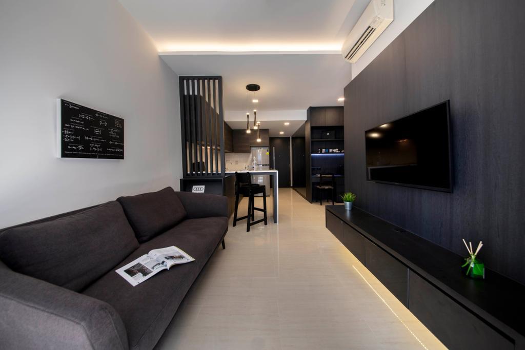 Contemporary, Condo, Living Room, Sims Urban Oasis, Interior Designer, Starry Homestead