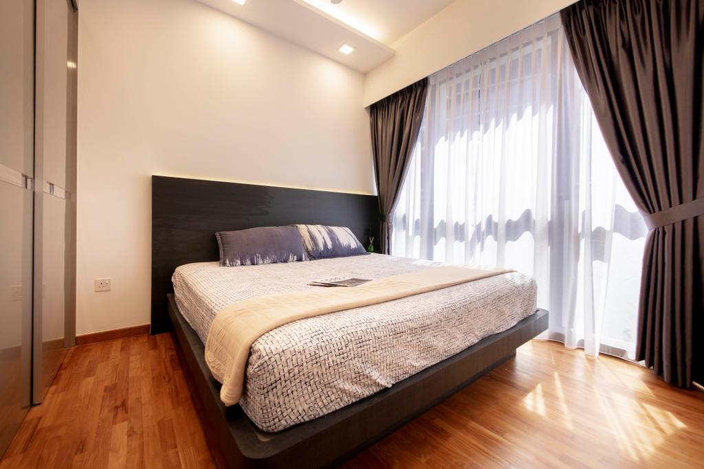 Contemporary, Condo, Bedroom, Sims Urban Oasis, Interior Designer, Starry Homestead
