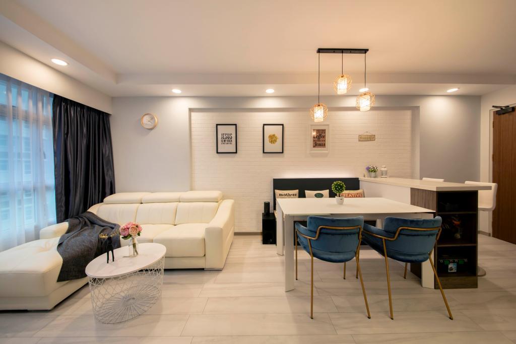 Contemporary, HDB, Living Room, Bukit Batok Avenue 6, Interior Designer, Starry Homestead