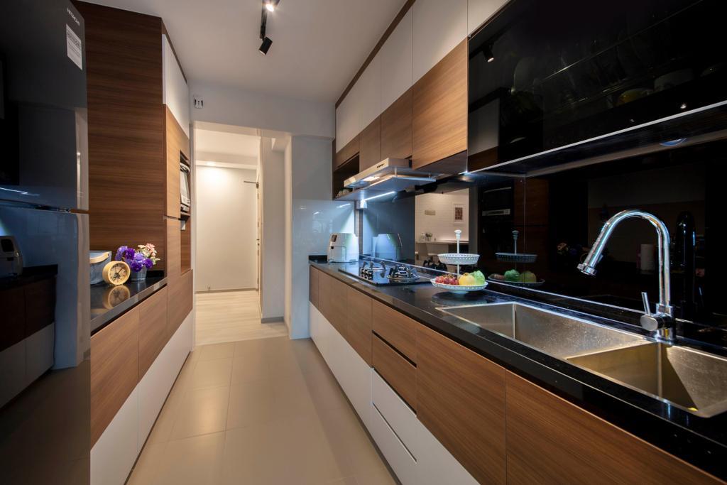 Contemporary, HDB, Kitchen, Bukit Batok Avenue 6, Interior Designer, Starry Homestead