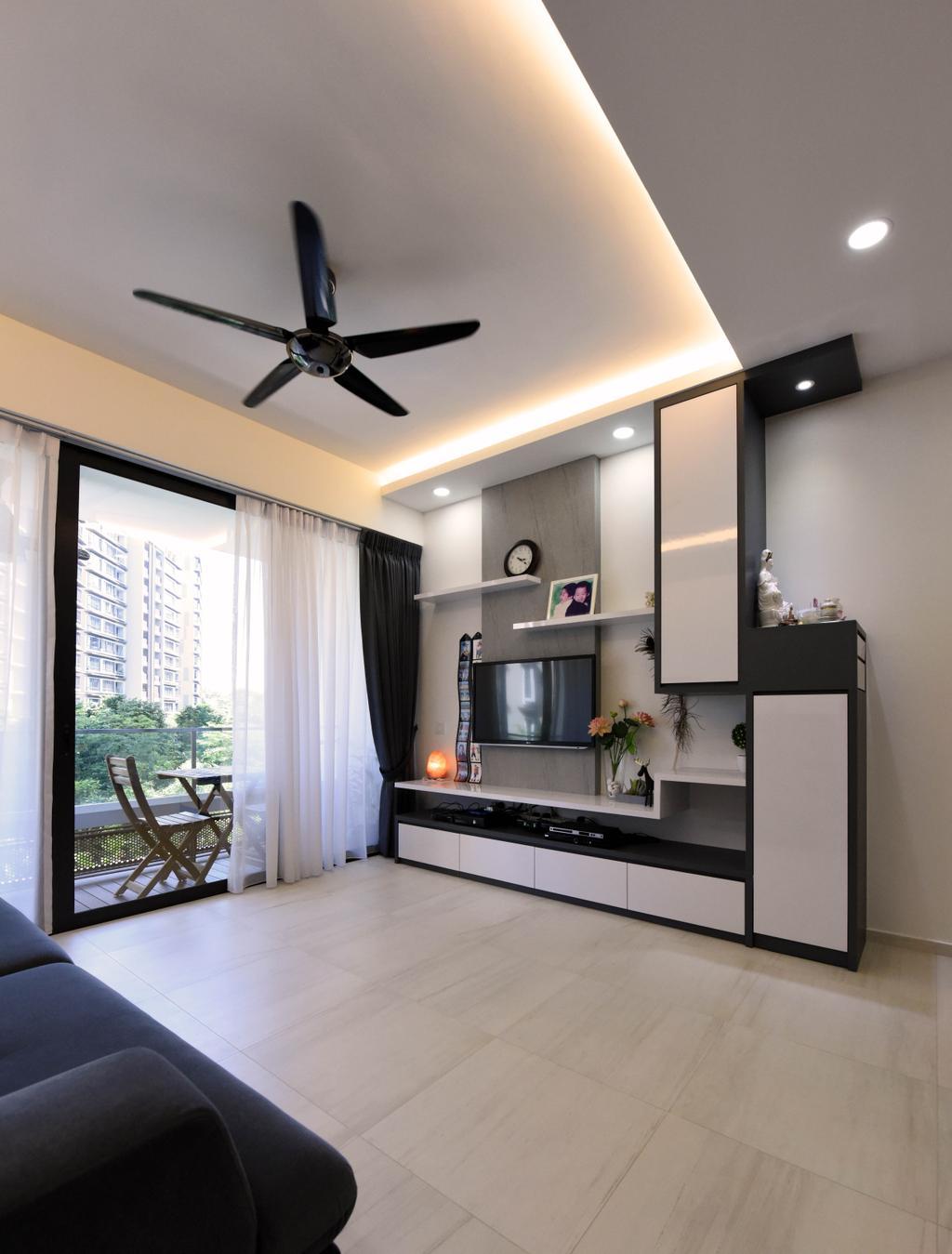 Contemporary, HDB, Living Room, Pasir Ris, Interior Designer, Starry Homestead
