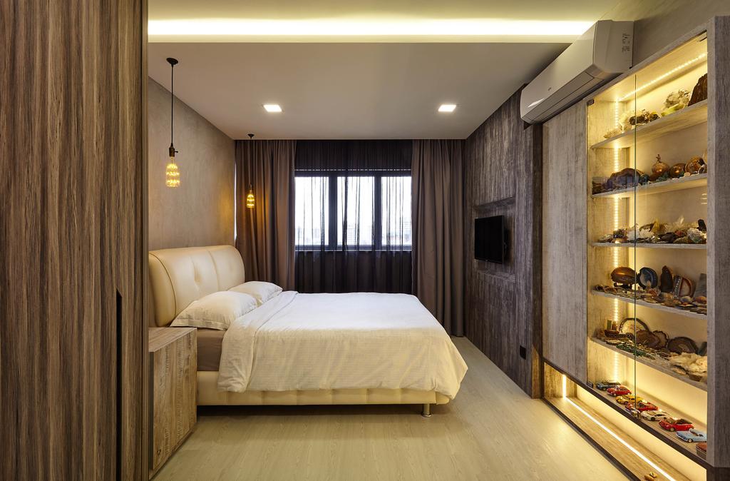Eclectic, HDB, Bedroom, Upper Changi, Interior Designer, D5 Studio Image, Contemporary