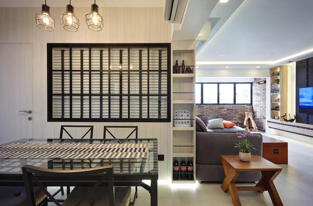 Eclectic, HDB, Dining Room, Upper Changi, Interior Designer, D5 Studio Image, Contemporary