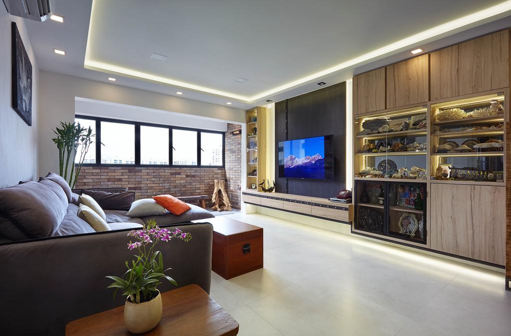 Eclectic, HDB, Living Room, Upper Changi, Interior Designer, D5 Studio Image, Contemporary