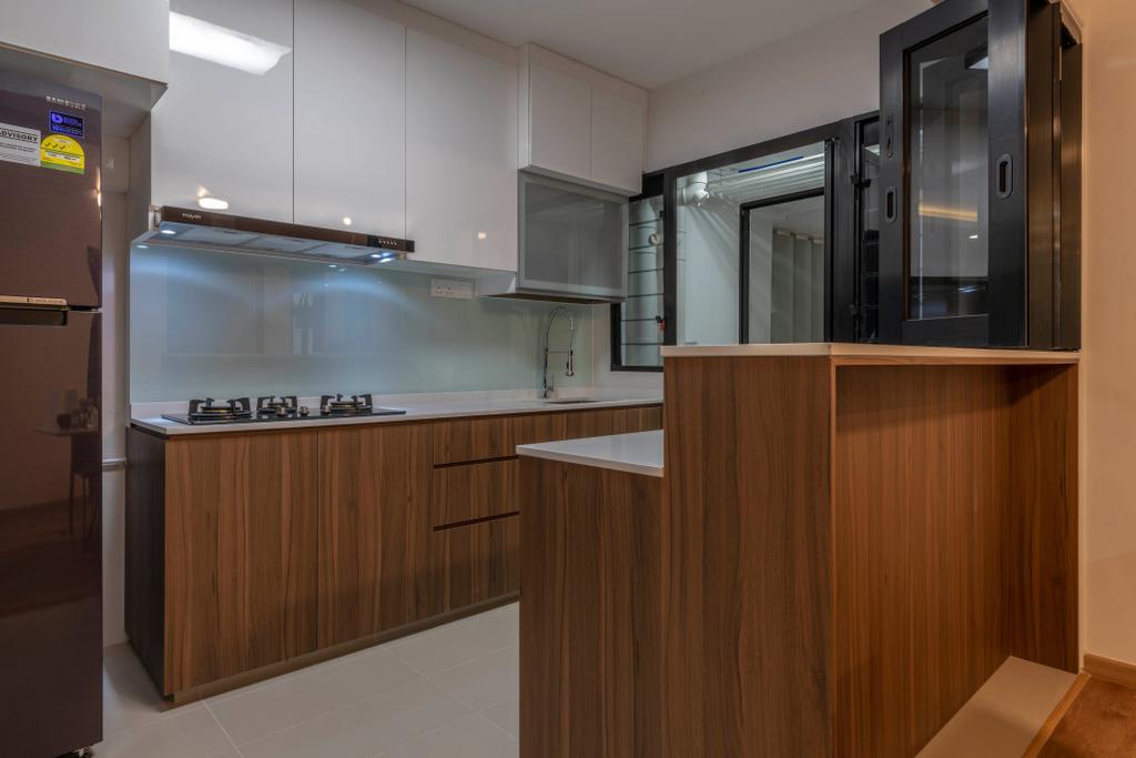 Contemporary, HDB, Kitchen, Buangkok Crescent, Interior Designer, Glamour Concept