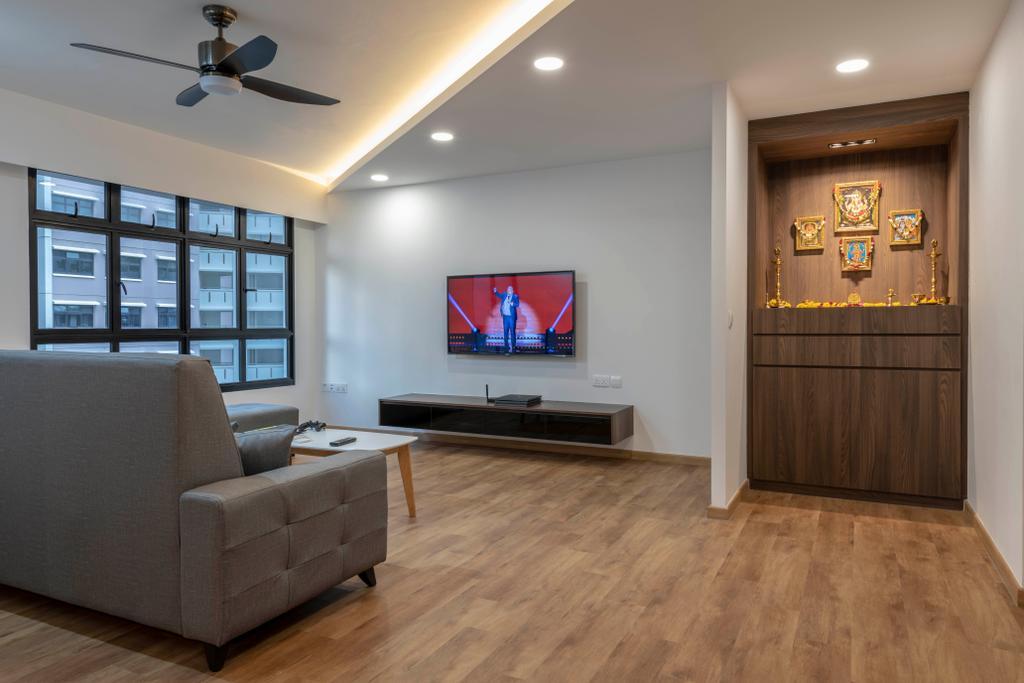 Contemporary, HDB, Living Room, Buangkok Crescent, Interior Designer, Glamour Concept
