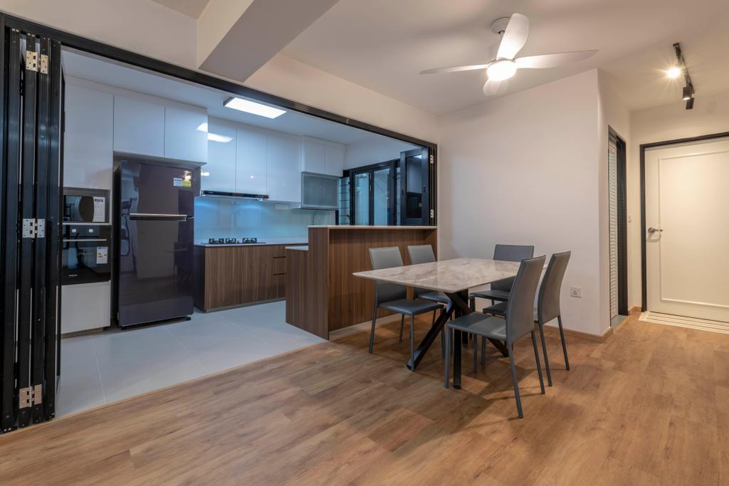 Contemporary, HDB, Dining Room, Buangkok Crescent, Interior Designer, Glamour Concept