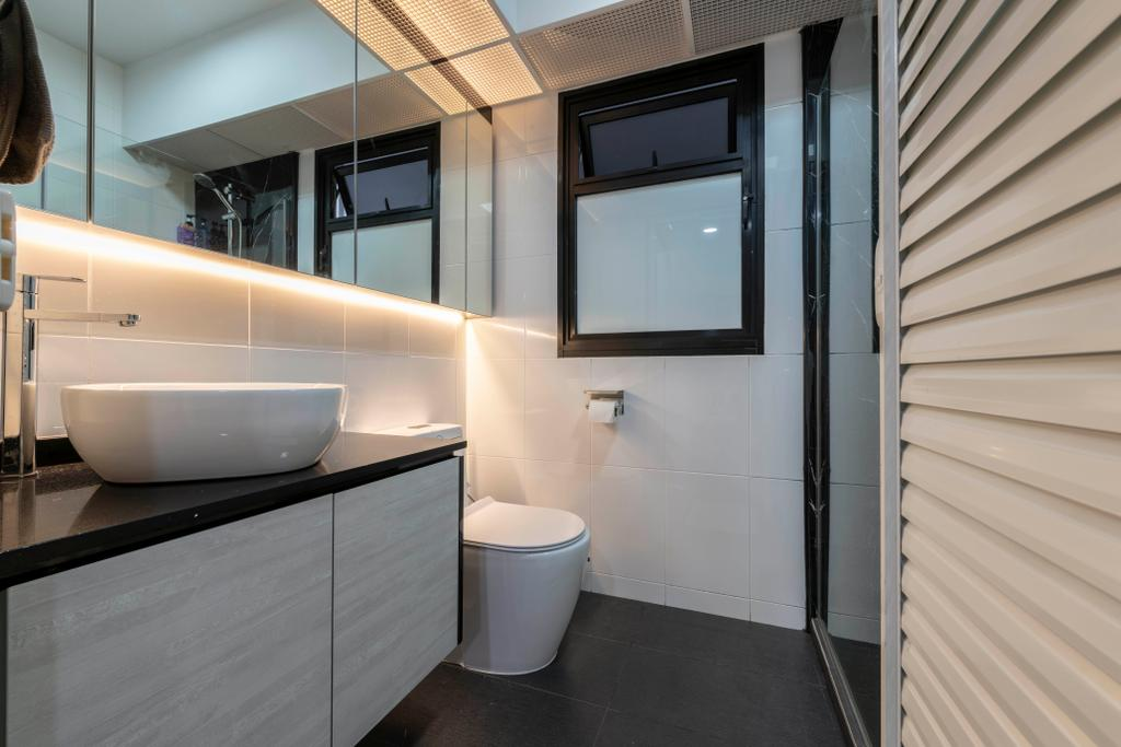 Contemporary, HDB, Bathroom, Buangkok Crescent, Interior Designer, Glamour Concept