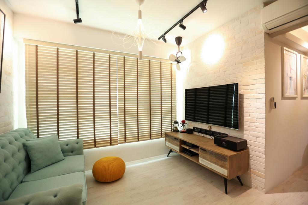 HDB, Living Room, Boon Lay, Interior Designer, Apartment