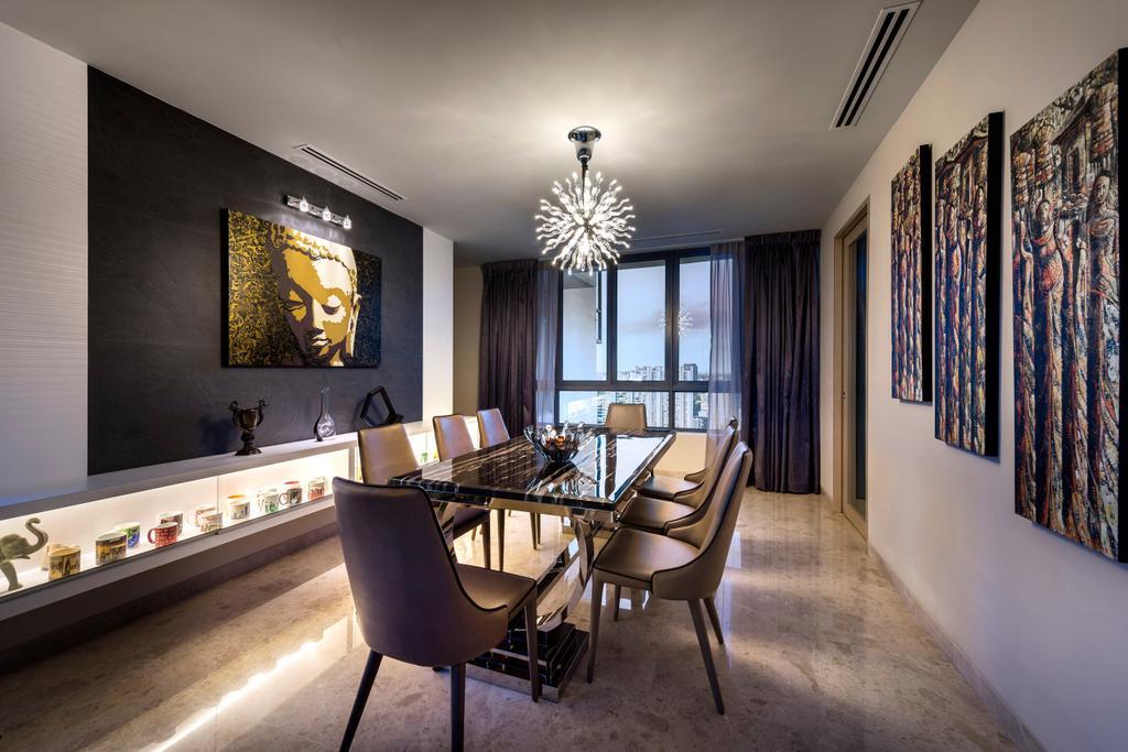 Contemporary, Condo, Dining Room, Rivergate, Interior Designer, Image Creative Design