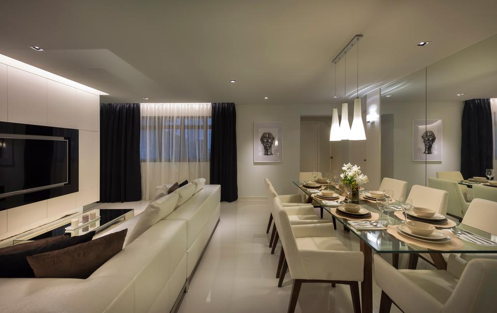 Contemporary, HDB, Living Room, Compassvale Crescent, Interior Designer, Image Creative Design
