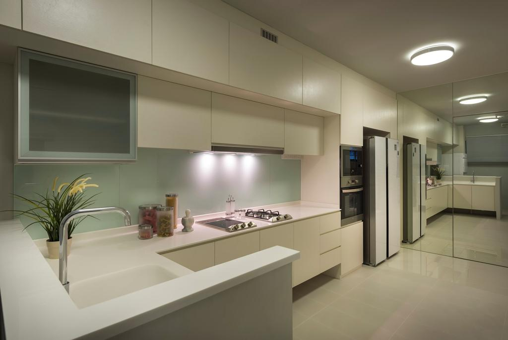 Contemporary, HDB, Kitchen, Compassvale Crescent, Interior Designer, Image Creative Design