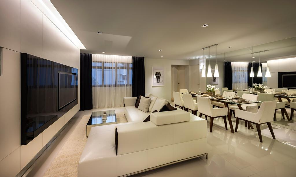 Contemporary, HDB, Living Room, Compassvale Crescent, Interior Designer, Image Creative Design