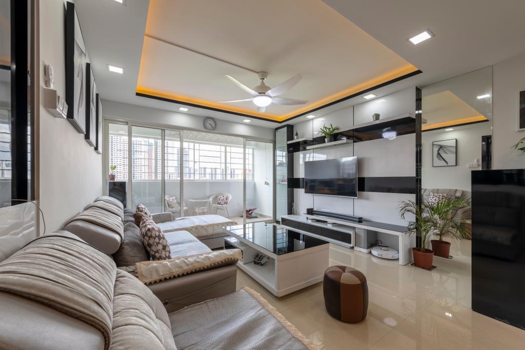 Contemporary, Condo, Living Room, Bukit Merah, Interior Designer, Visionary Interior