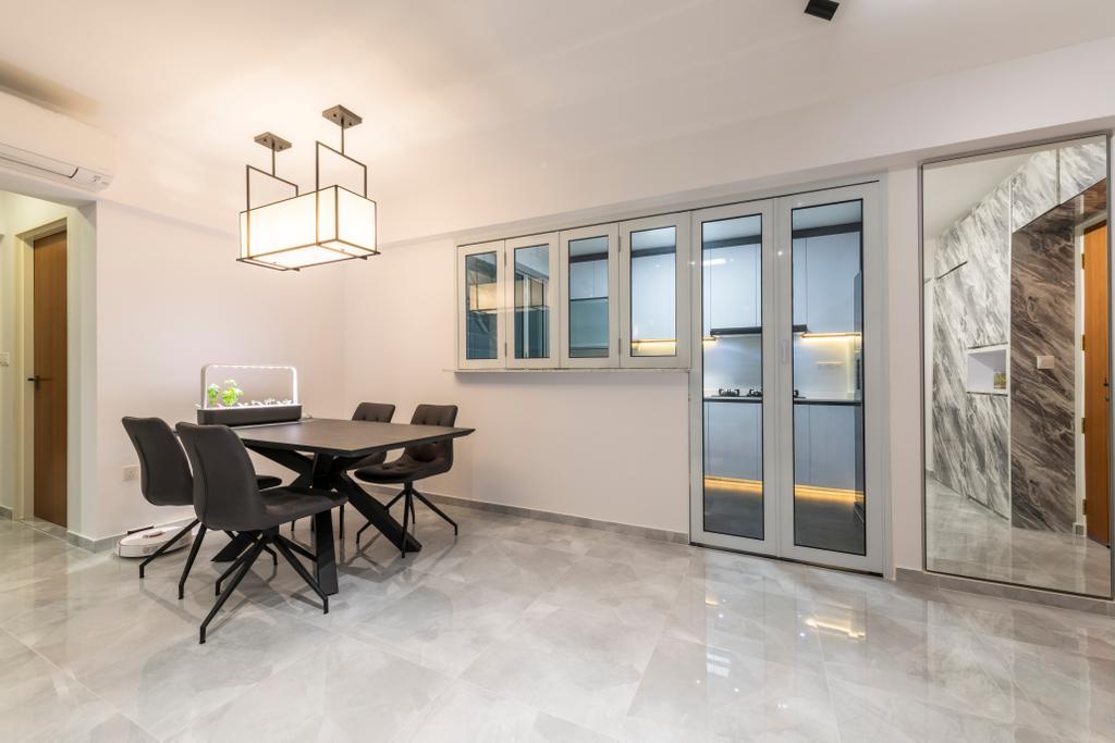 Modern, Condo, Dining Room, Bukit Batok, Interior Designer, Visionary Interior