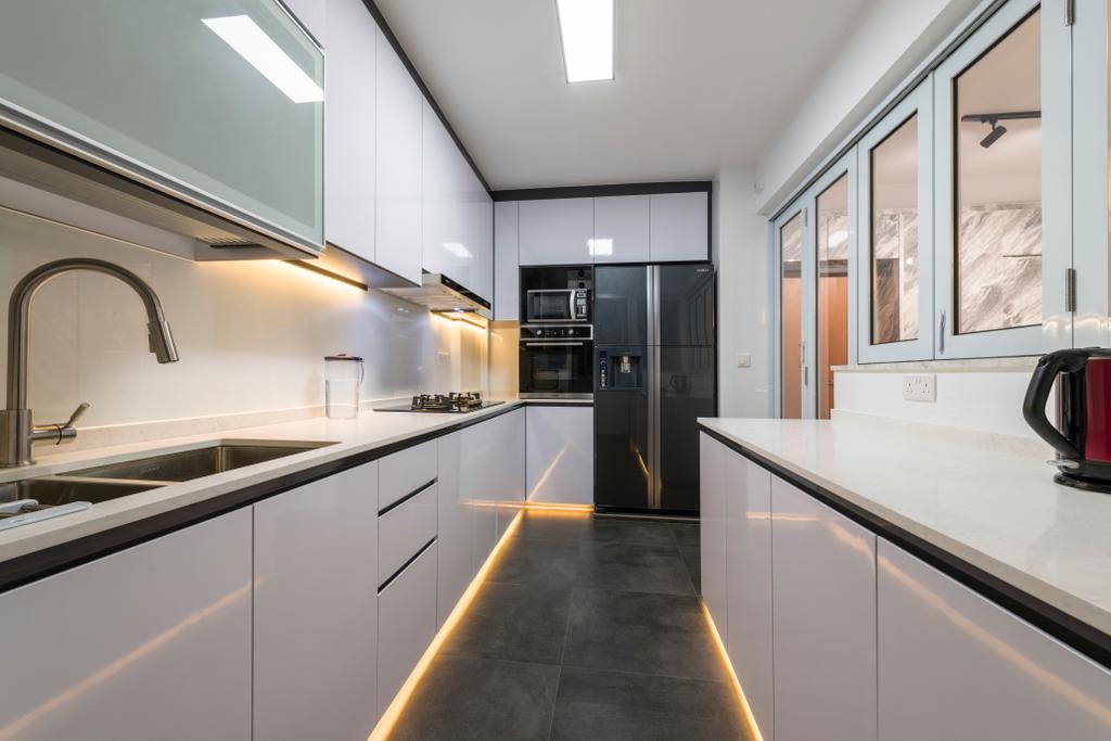 Modern, Condo, Kitchen, Bukit Batok, Interior Designer, Visionary Interior