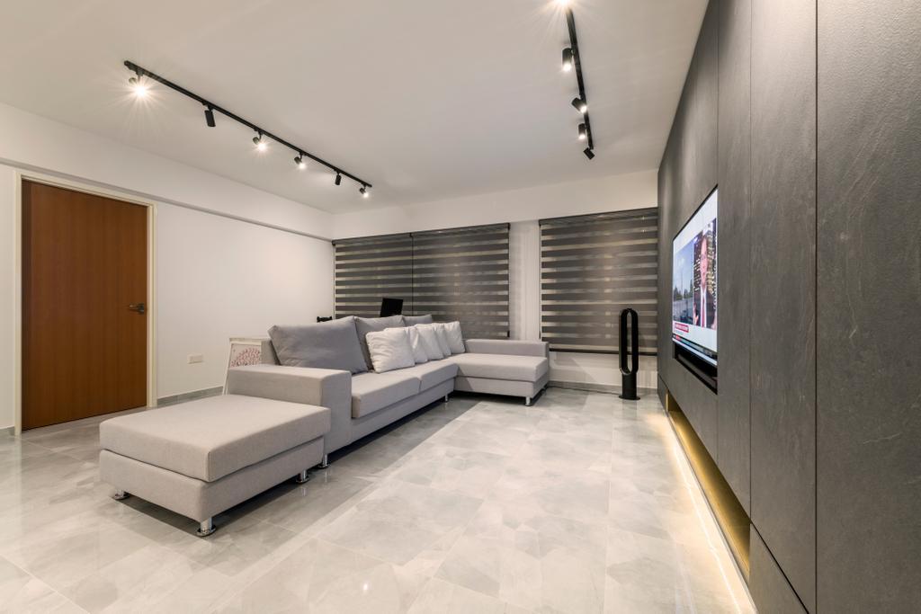 Modern, Condo, Living Room, Bukit Batok, Interior Designer, Visionary Interior