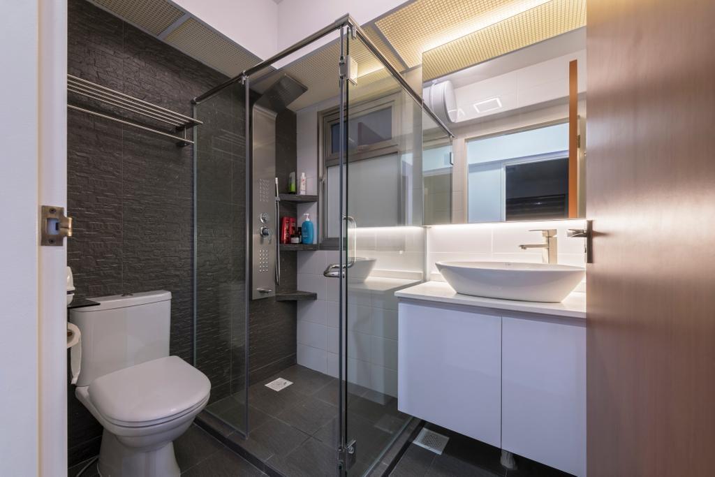 Modern, Condo, Bathroom, Bukit Batok, Interior Designer, Visionary Interior