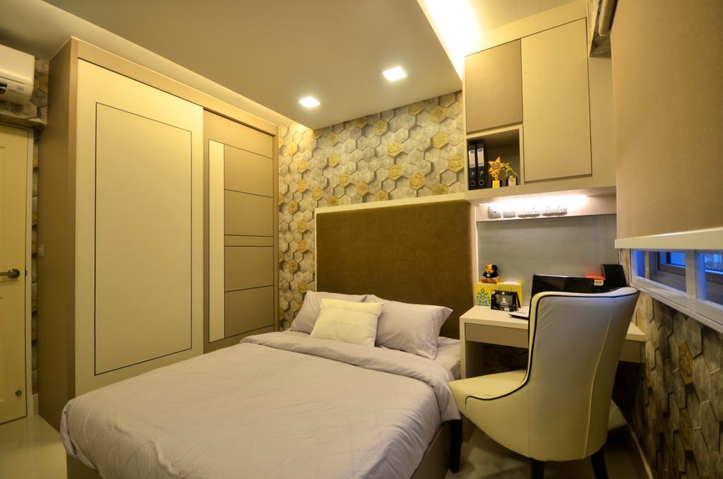 Contemporary, HDB, Bedroom, Fernvale Link, Interior Designer, Boxplan Design