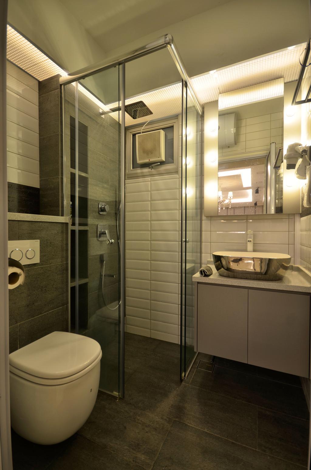 Contemporary, HDB, Bathroom, Fernvale Link, Interior Designer, Boxplan Design