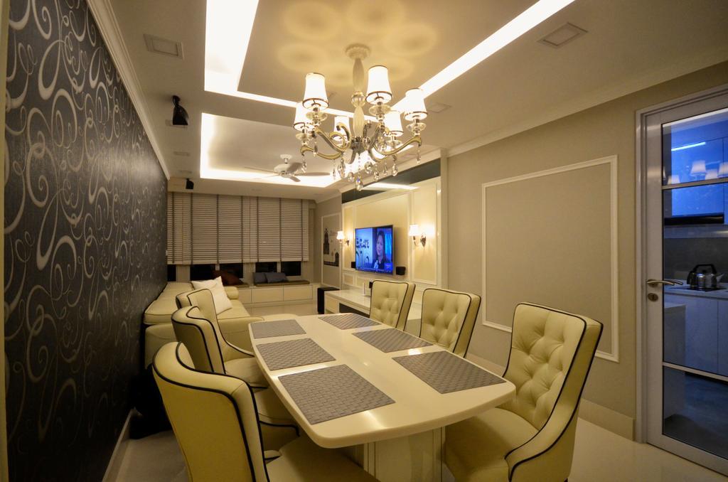 Contemporary, HDB, Dining Room, Fernvale Link, Interior Designer, Boxplan Design