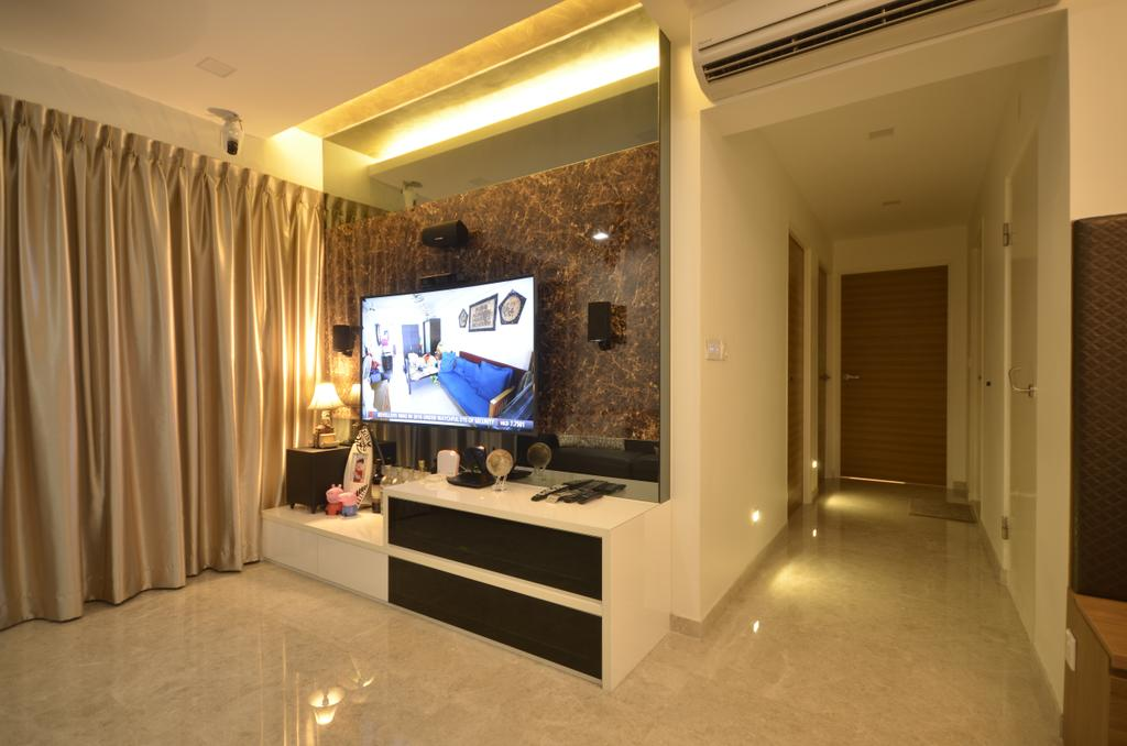 Contemporary, HDB, Living Room, Edgefield Plains, Interior Designer, Boxplan Design