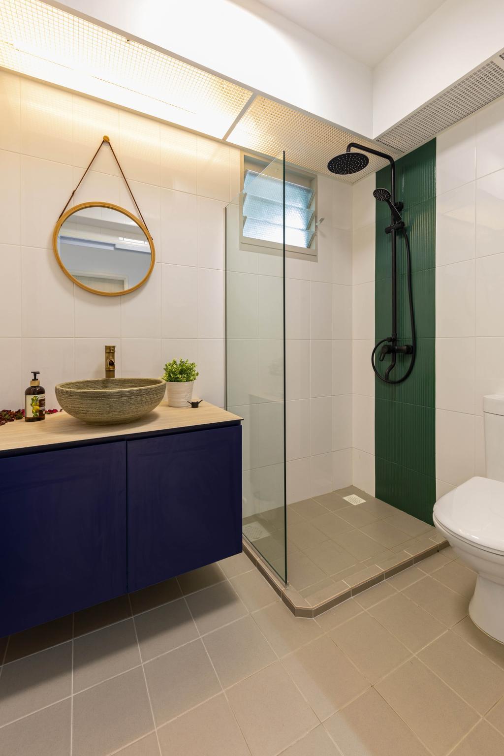 Scandinavian, HDB, Bathroom, Sumang Walk, Interior Designer, Style Living Interior