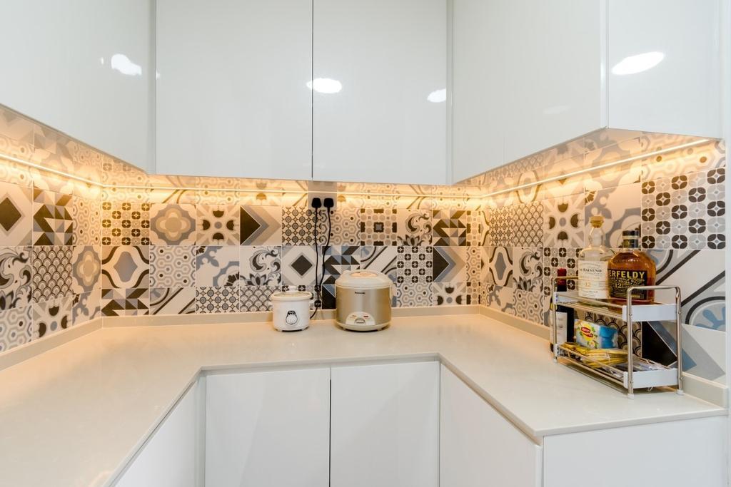 Modern, HDB, Kitchen, Tampines Avenue 5, Interior Designer, Yang's Inspiration Design