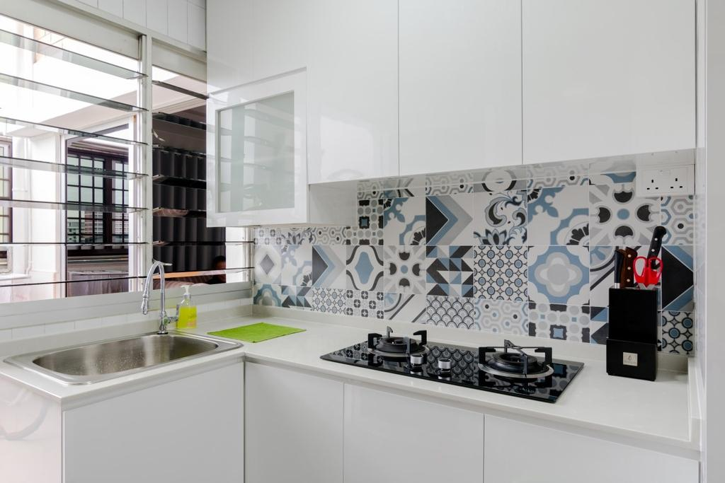 Modern, HDB, Kitchen, Tampines Avenue 5, Interior Designer, Yang's Inspiration Design
