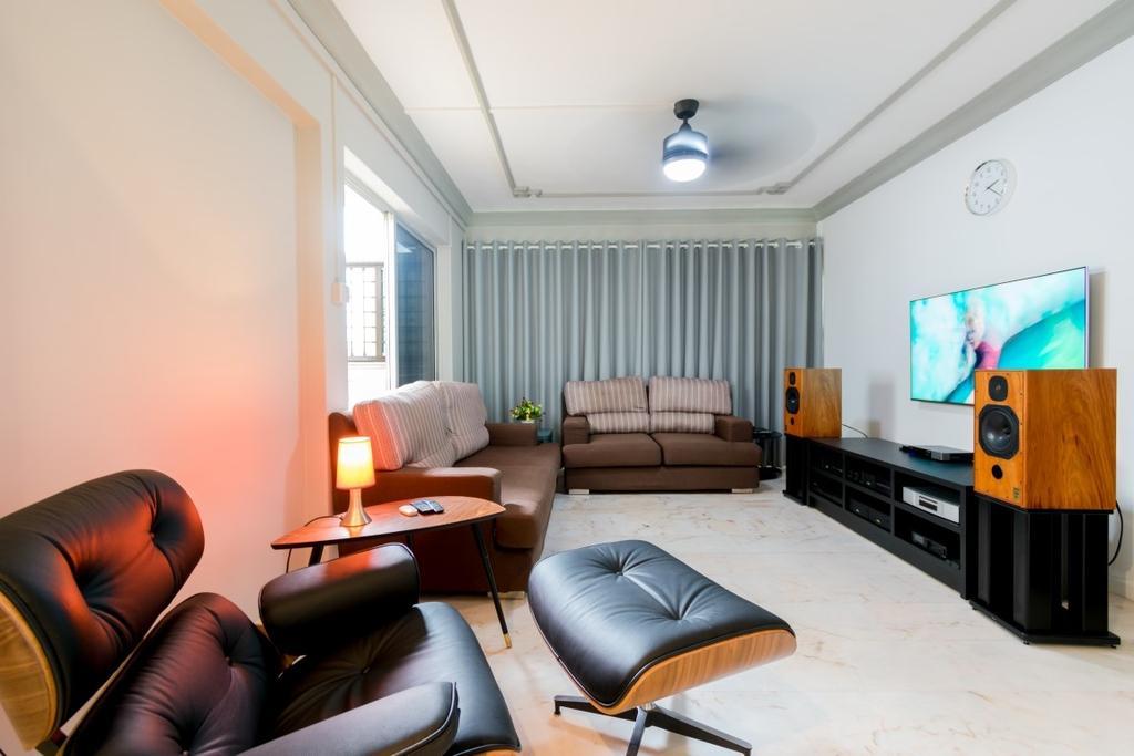 Modern, HDB, Living Room, Tampines Avenue 5, Interior Designer, Yang's Inspiration Design