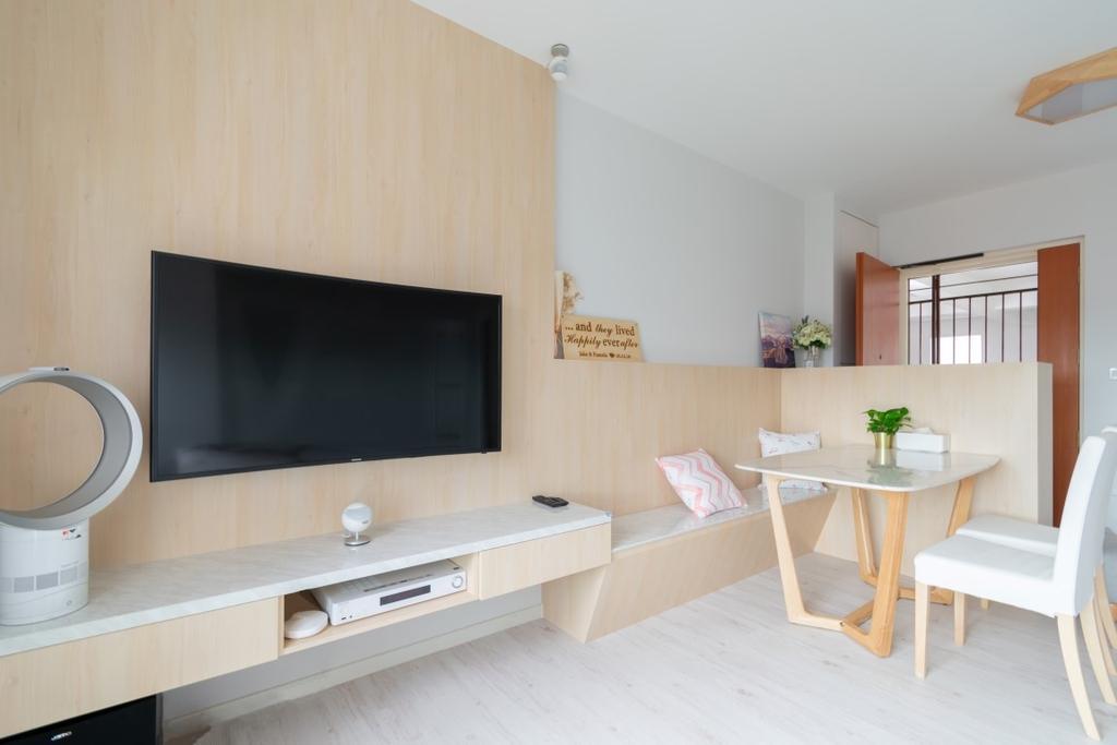 Modern, HDB, Living Room, Henderson Road, Interior Designer, Yang's Inspiration Design