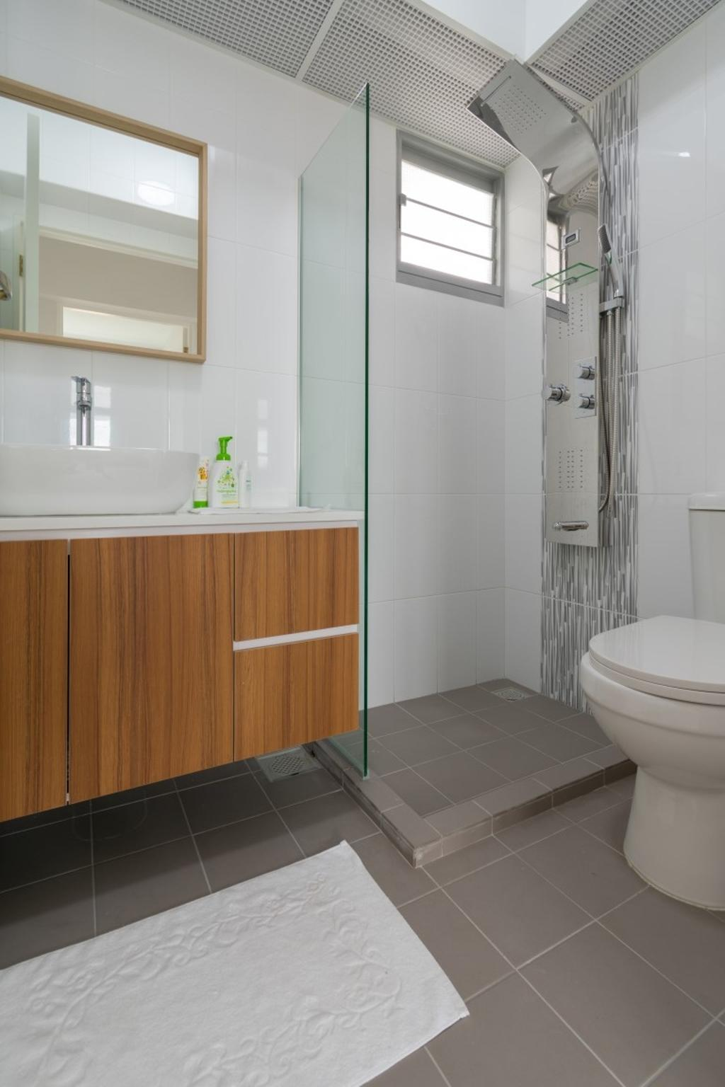 Modern, HDB, Bathroom, Henderson Road, Interior Designer, Yang's Inspiration Design