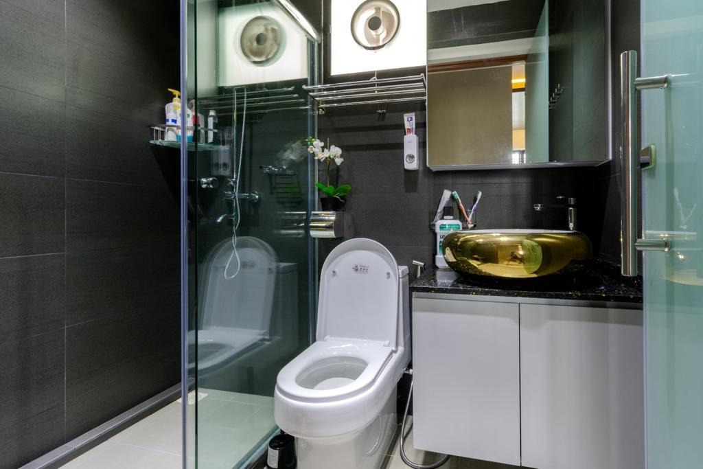 Modern, HDB, Bathroom, Ghim Moh Link, Interior Designer, Yang's Inspiration Design
