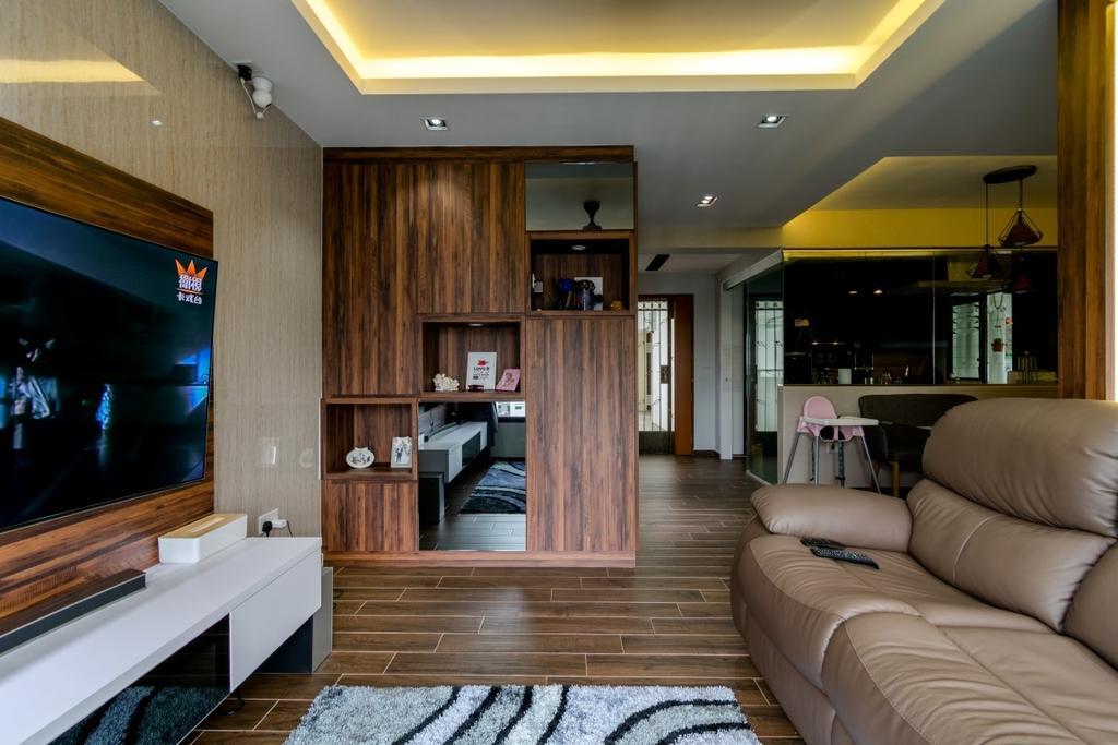 Modern, HDB, Living Room, Ghim Moh Link, Interior Designer, Yang's Inspiration Design