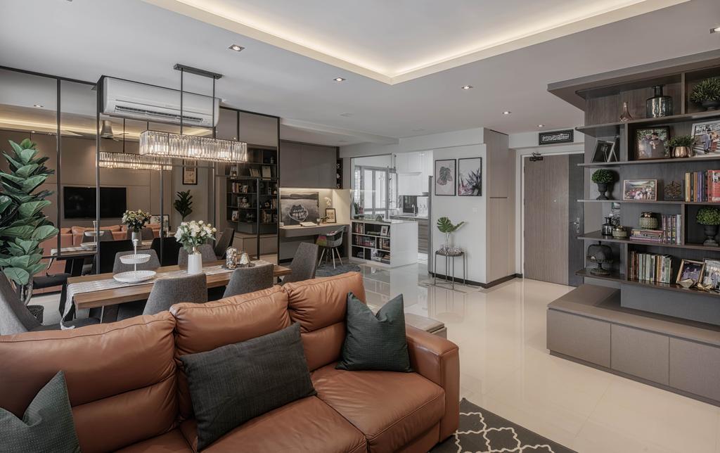 Modern, HDB, Waterway View, Interior Designer, Stylemyspace