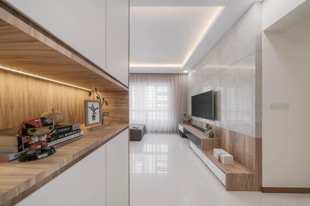 Contemporary, HDB, Living Room, Ang Mo Kio Street 51, Interior Designer, Weiken.com