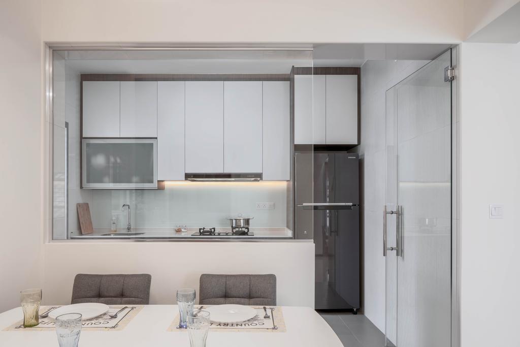 Contemporary, HDB, Dining Room, Ang Mo Kio Street 51, Interior Designer, Weiken.com