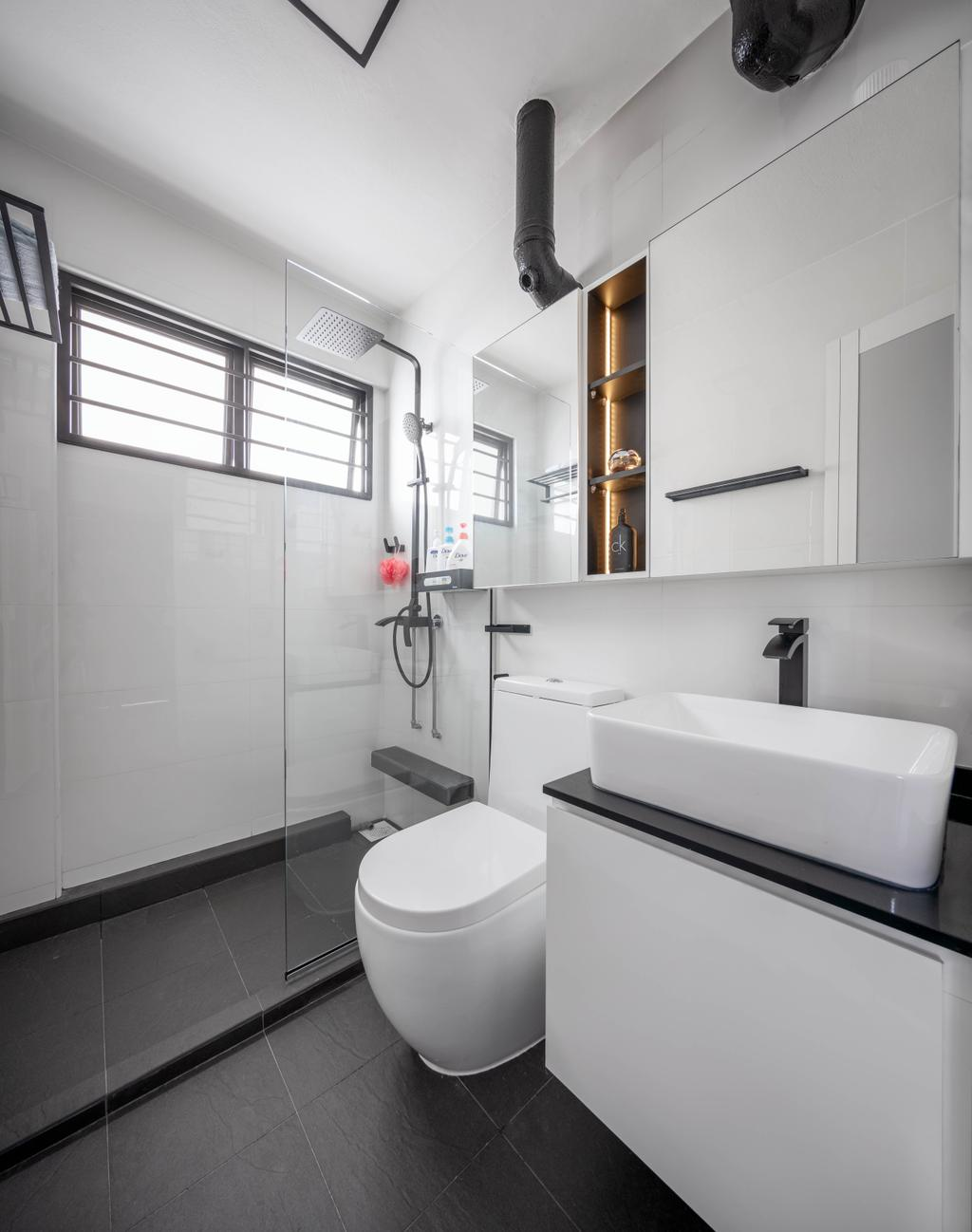Modern, HDB, Bathroom, Woodlands Street 83, Interior Designer, Weiken.com, Contemporary