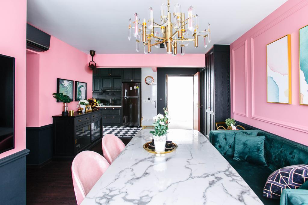 Contemporary, HDB, Dining Room, Telok Blangah Street 31, Interior Designer, The Scientist