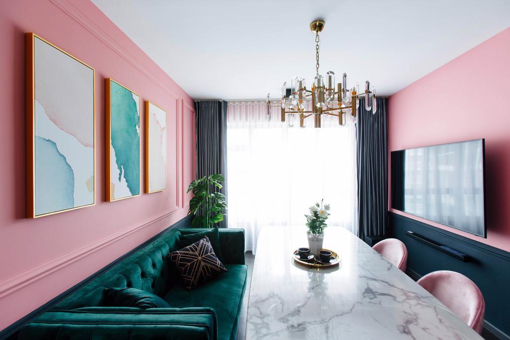 Contemporary, HDB, Living Room, Telok Blangah Street 31, Interior Designer, The Scientist, Wall Art, Art Frames, Framed Art