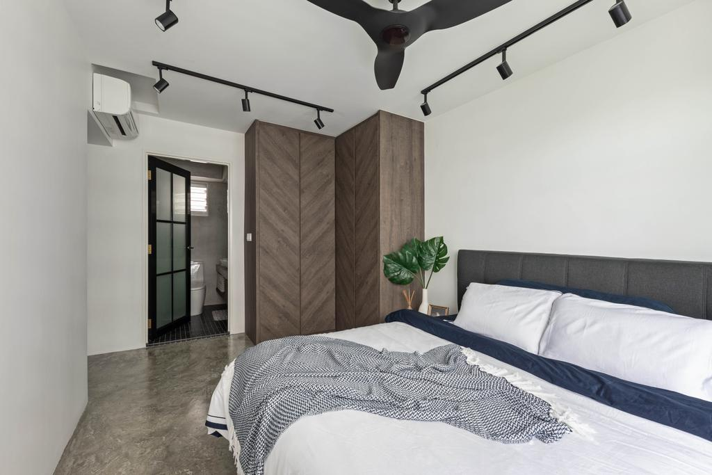 Industrial, HDB, Bedroom, Anchorvale Crescent, Interior Designer, Free Space Intent