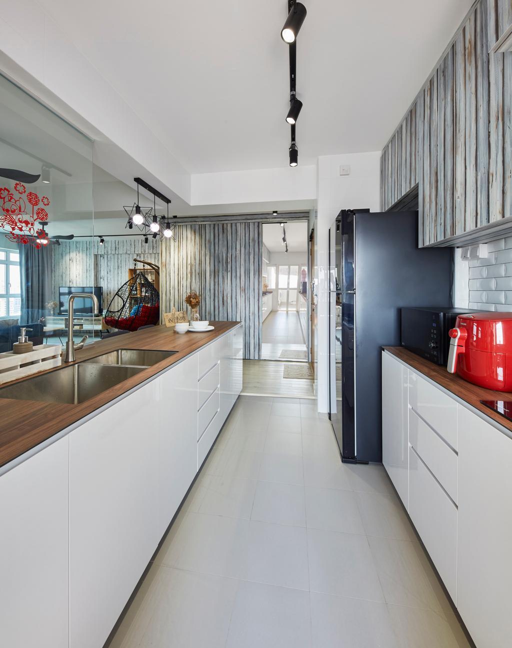 Contemporary, HDB, Kitchen, Jalan Limau, Interior Designer, i-Chapter