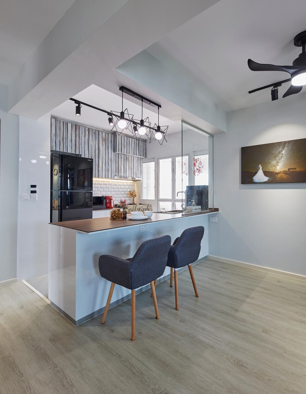 Contemporary, HDB, Dining Room, Jalan Limau, Interior Designer, i-Chapter